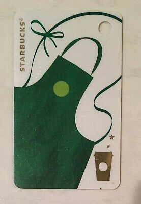 Starbucks 2017 China Green Apron MSR Mini Keychain Card PIN INTACT