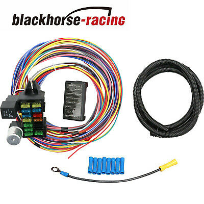 12-14 CIRCUIT UNIVERSAL Wiring Harness Muscle Car Hot Rod Street Rod on