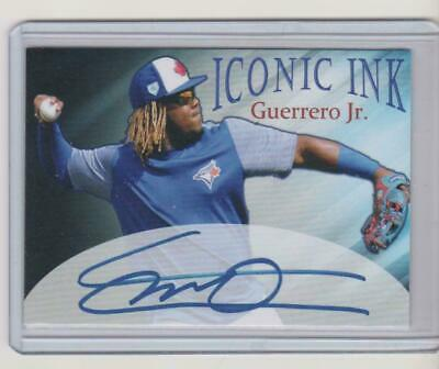 VLADIMIR GUERRERO JR. 2019 Iconic Ink Auto Rookie RC HOT HOME RUN DERBY CHAMP !