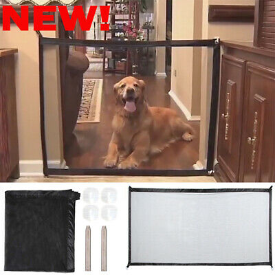 Safety Enclosure Dog Gate Barrier Mesh Safe Pet Anywhere Magic Guard&Install FO