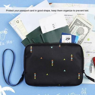 Travel Passport Credit ID Card Cash Wallet Purse Holder Case Document Bag Nylon