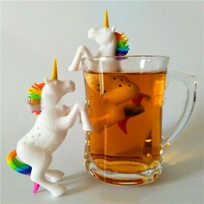Cute Silicone Unicorn Tea Strainer Filter Loose Leaf Spice Herbal Spice Diffuser