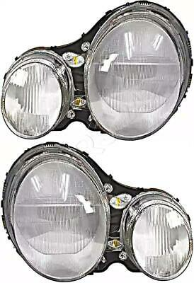 HELLA Headlight Lens Left+Right For MERCEDES S210 W210