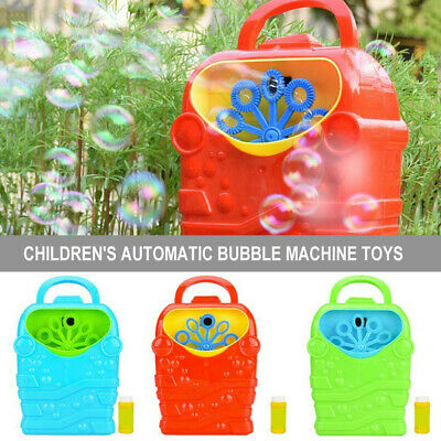 Portable Automatic Bubble Blower Blowing Maker Machine Funny Outdoor Toy For Kid