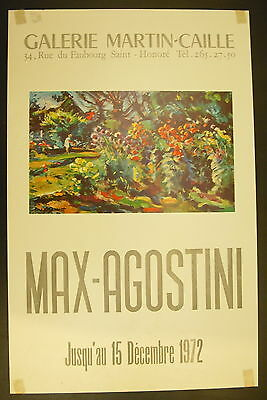Affiche exposition MAX-AGOSTINI Impressionniste Galerie Martin-Caille 1972