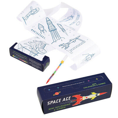 Rex London SPACE AGE MINI COLOURING AND GAMES