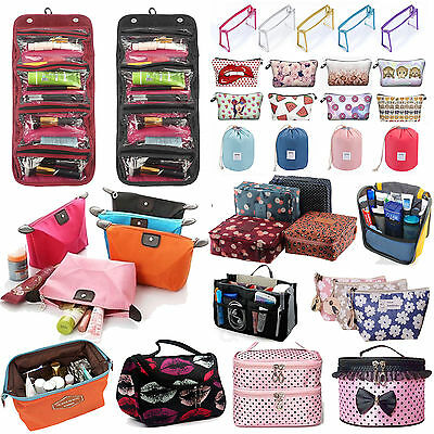 Expandable Travel Cosmetic Organizer Storage Makeup Wash Bag Toiletry Pouch Zip