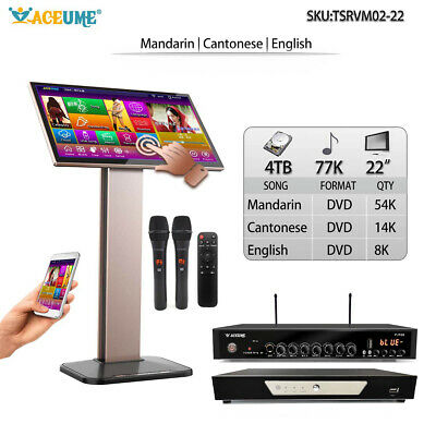 4T HDD 77K Chinese+English Songs,Touch Screen Karaoke Player, Cloud Update,ECHO