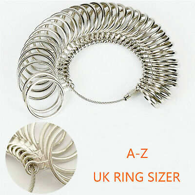 NEW Ring Sizer Measure Finger Size For Men and Women Sizes A-Z REUSABLE Gauge