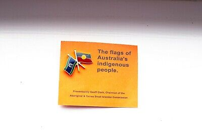 RARE Aboriginal and Torres Strait Islander Flags enamel pin from 1990s