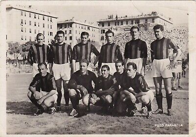 Calcio/Football Cartolina sq. MILAN 1959-'60 con NORDAHL, LIEDHOLM originale