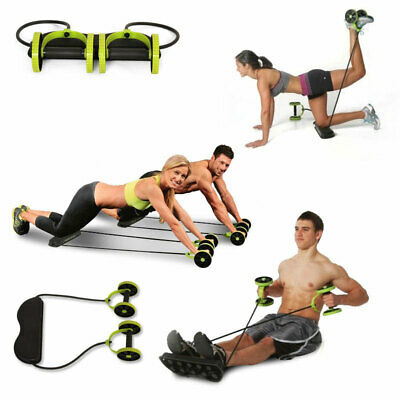 Abdominal Power Roll AB Trainer Waist Slim Exercise Core Double Wheel Fitness .