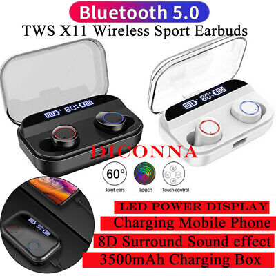 TWS Wireless Headphones X11Mini Bluetooth 5.0 Stereo Earphones In-Ear Headset UK