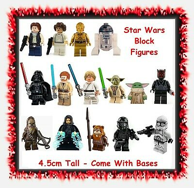 Star Wars block mini figures - space sci-fi movie toys cake toppers Starwars
