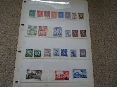 Page Kg6 & Qe2 Mnh High Value Kuwait Stamps + Others