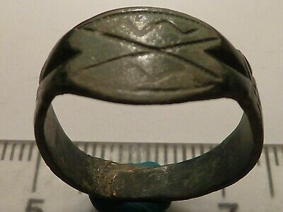3841	Ancient Roman bronze ring 17 mm