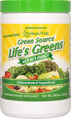 Puritan's Pride Life's Greens Concentrated Superfood For Energy 9.62 oz