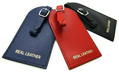 New High Quality Real Leather Luggage Tag Travel Holiday ID Suitcase Security