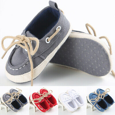 Infant Toddler Baby Boys Unisex Soft Sole Crib Shoes Sneaker Newborn Anti-Slip