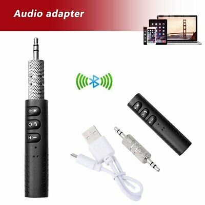 Wireless Bluetooth Receiver 3.5mm AUX Audio Stereo Hands Free Car Adapter PQ