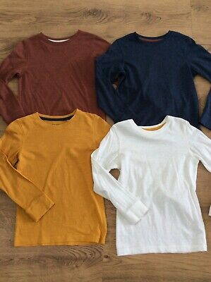 4 boys long sleeve tops/tshirts age 6 from NEXT, white, blue, mustard