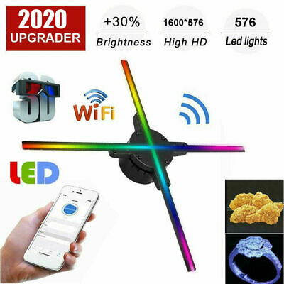 3D HD LED Hologram Projector Fan WIFI Holographic Advertising Display Displayer