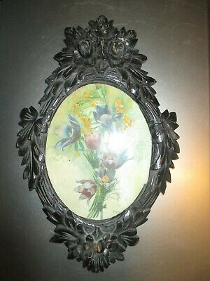 Antique Pair of Black Forest Picture Frames ca.1900