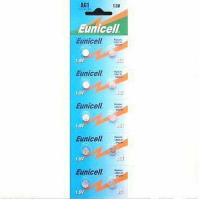 10x Eunicell AG1  1.5V Lithium Button Coin Cell Battery Batteries NEW PX1