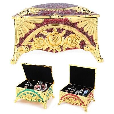Women Lady Vintage Style Jewelry Box Ornaments Storage Organizer Case Containers
