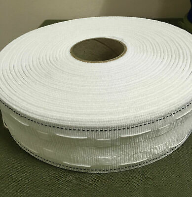 CURTAIN HEADING HEADER TAPE~PENCIL PLEAT~50mm(2 Inch) WIDE~VARIOUS LENGTHS ~