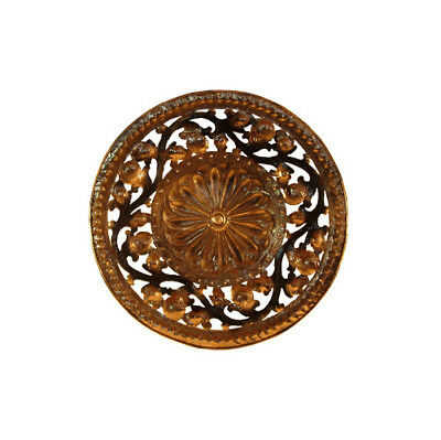 Huge Decorative Plate Copper Embossed Hand with Roundel 1 Meter Diamet