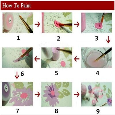 DIY Oil Painting Paint by Number Kits Fit Office HomeWall Hanging Decor Art