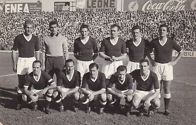 Calcio/Football Cartolina sq. TORINO 1955-'56 con CUSCELA, GRAVA originale