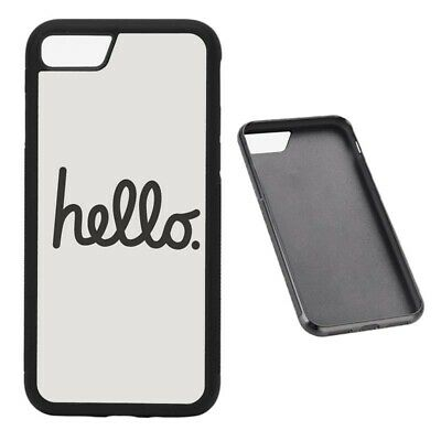 Hello RUBBER phone case Fits iphone