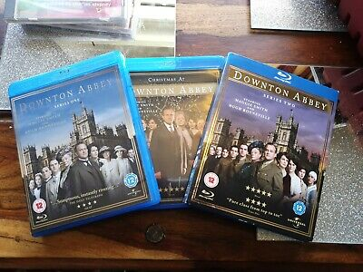 Downton Abbey The Complete Series 1 & 2 And Xmas Blu-Ray Box Sets Bundle