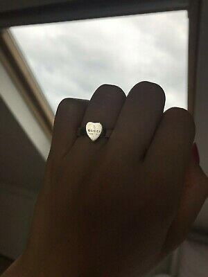 a1b57525979bb GUCCI HEART RING Authentic Size 6/7 Agustable New In Box With Tag ...