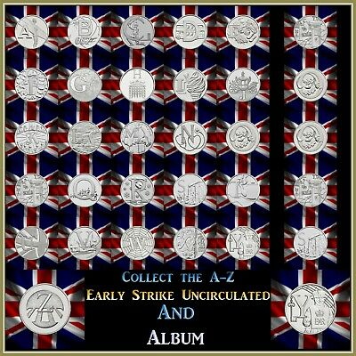 Great British Coin Hunt 2018 Early Strike 10P Uncirculated Royal Mint Album A-Z