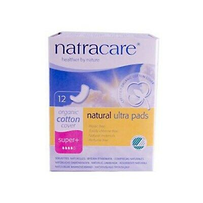 Natracare Natural Ultra Pads Organic Cotton Cover - Super Plus - 12 Pack 4 Pack