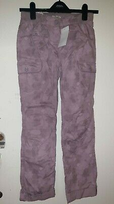 BNWT Vertbaudet girls pink floral cargo trousers size 156cm 14 Years 100% cotton