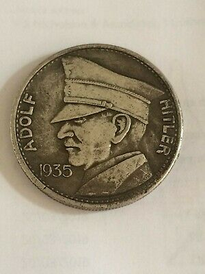 WW2 WWII German 5RM Adolf Hitler 1935 Coin Third Reich Nazi Commemorative Coin