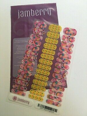 Jamberry Nail Wraps Full Sheet Junior Bright Imagination - A477 - Retired