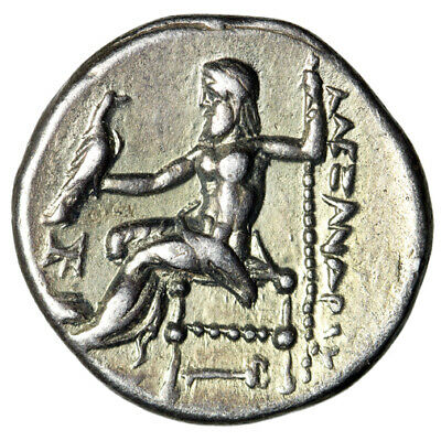 "Alexander III The Great Drachm ""Herakles, Zeus Kerykeion (Caduceus)  Attractive"