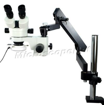 Stable 7X-45X Binocular Microscope with Articulating Arm+Post+54 LED Ring Light