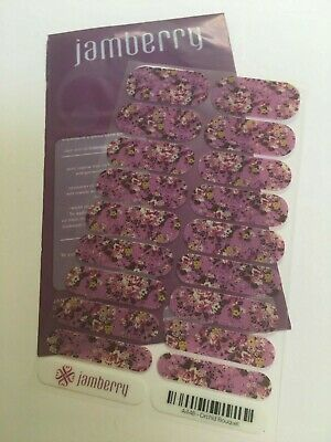 Jamberry Nail Wraps Full Sheet Orchid Bouquet - A448 - Retired