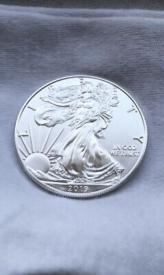 2019 1 oz American Silver Eagle GEM BU FRESH FROM MINT TUBE; SHIPS IMMEDIATELY!