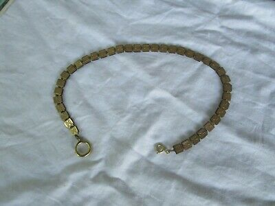 19th Century Wonderful Antique Gold Filled Engraved Unique Pocket Watch Chain