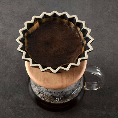 Ceramic Coffee Filters Pour Over Coffee Maker Cone Dripper Brewer Black