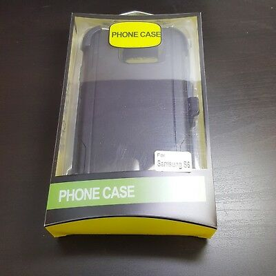 Samsung Galaxy S6 - Shockproof Tough Full Shell Case Clip Fits Otterbox Defender