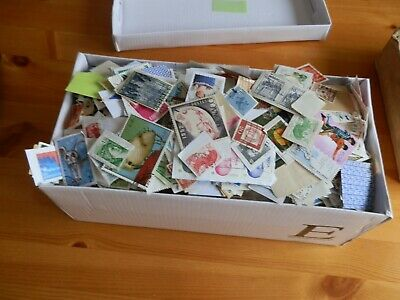 mix box of world stamp,s on and of paper larger box