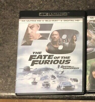 Fate Of The Furious 4K Blu Ray